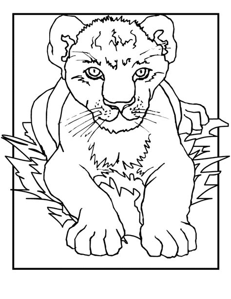 Coloring Page Lion Cub | free printable lion coloring pages for kids