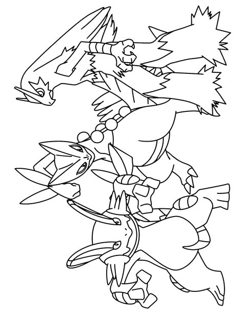 pokemon coloring pages sceptile swert coloring pages thekindproject