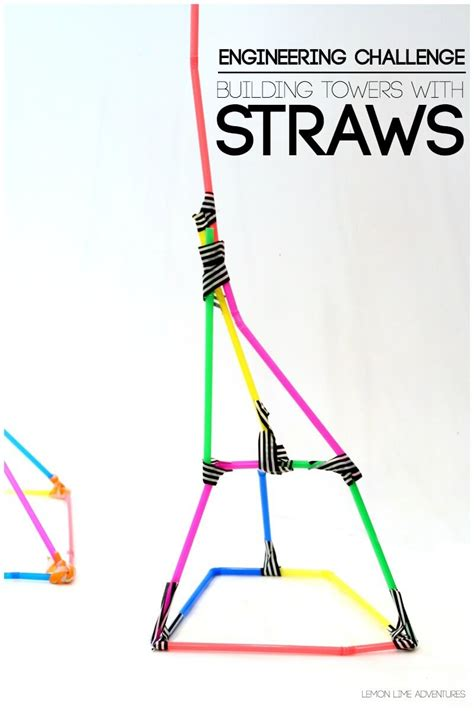 paper structure challenge building with straws simple engineering challenge for
