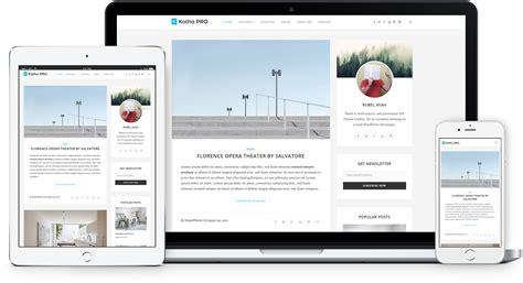 pro photo themes wordpress kotha pro responsive wordpress blog theme shapedtheme