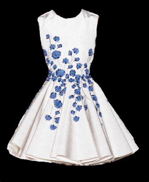 white dress with blue flowers dress pretty flowers white skater dress blue