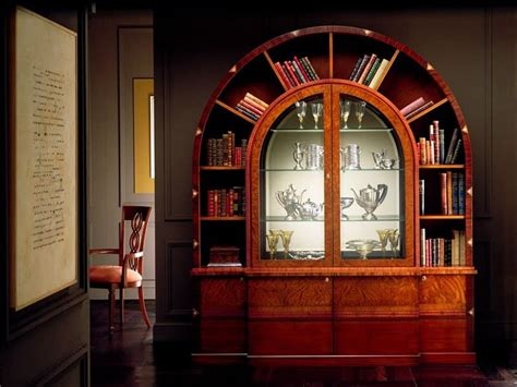 libreria ad arco libreria ad arco in palissandro intarsiato illuminazione