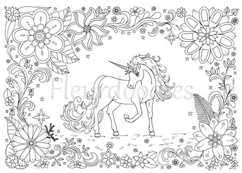 unicorn mandala coloring pages coloring page unicorn instant от