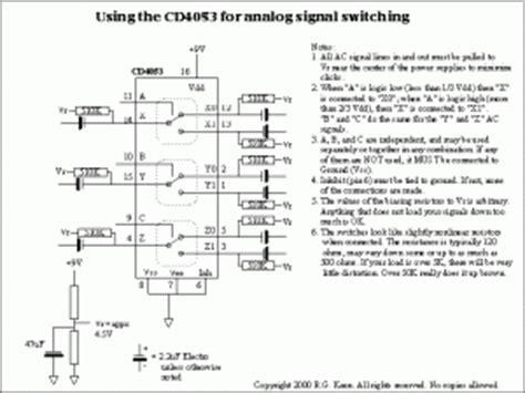 Analog Multiplexer Cd4053 Mux 4053 cd4053 cmos analog mux komi workshop diy