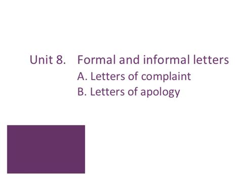 Complaint Letter Informal Letter Of Complaint