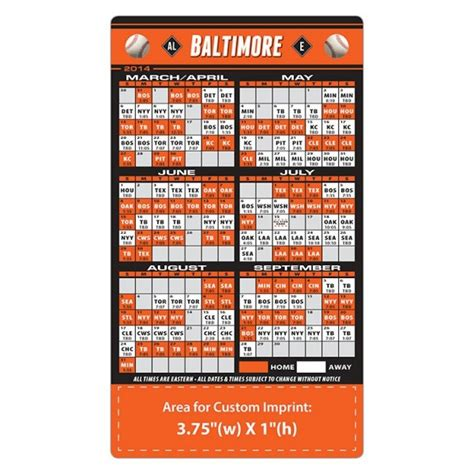 printable orioles tickets baltimore orioles baseball team schedule magnets 4 quot x 7