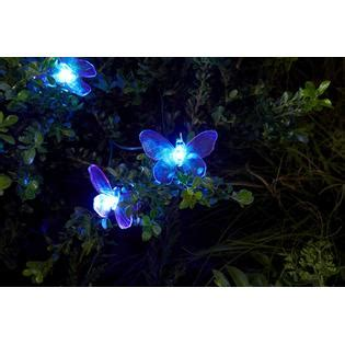 Solar Powered Butterfly String Lights Essential Garden Solar Butterfly String Lights 20 Ct