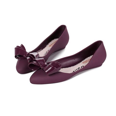 Bartier Glosy Flat Shoes 36 40 China plus size new flat shoes bowtie pointed toe flats