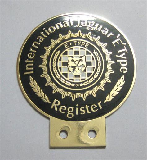 jaguar emblems badges sell international jaguar etype register grill badge