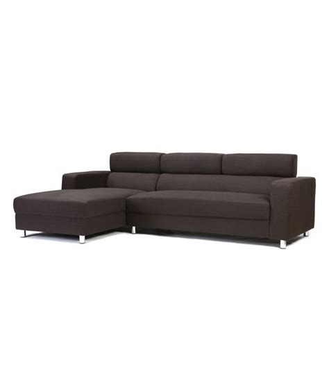 2 seater chaise lounge 2 seater sofa with right chaise lounge in brown buy 2