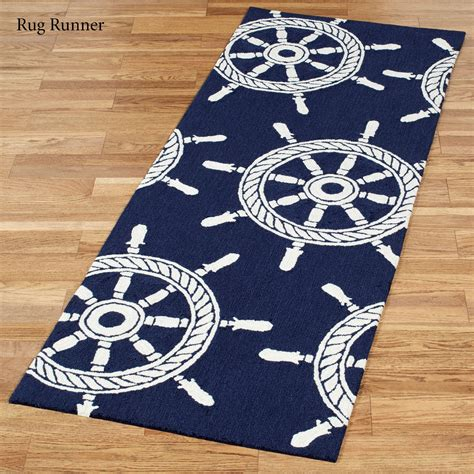 Nautical Outdoor Rugs Ship Wheel Nautical Indoor Outdoor Rugs By Liora Manne