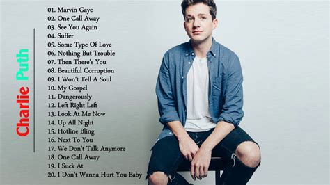 charlie puth songs 2017 charlie puth greatest hits full cover 2017 charlie puth
