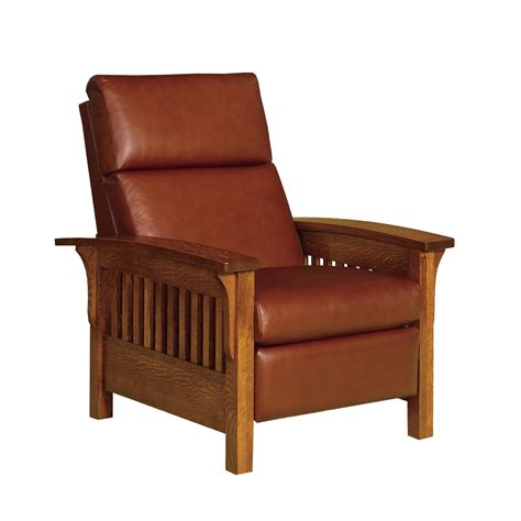 mission reclining chair amish heartland slat mission recliner with optional power