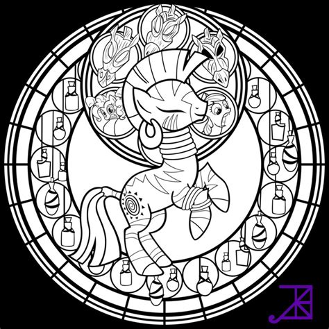 my little pony coloring pages zecora stained glass zecora line art sans smoke by akili