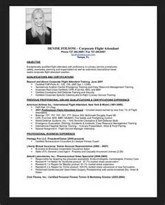 resume sample for flight attendant resumes design