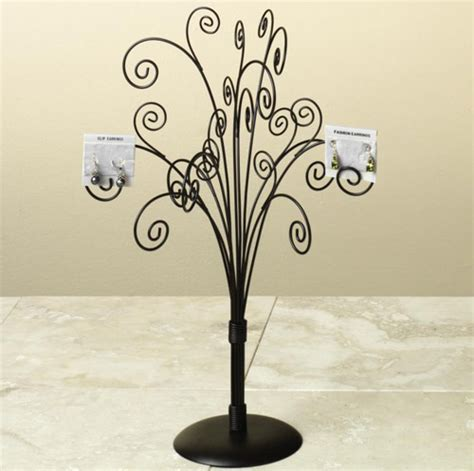 wrought iron trees wrought iron jewelry tree brown in jewelry stands