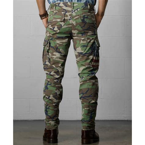 green camo denim supply ralph lauren knox camo cargo pants in green