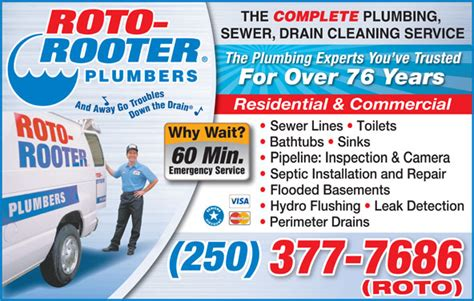 Roto Rooter Plumbing Drain by Roto Rooter Sewer Drain Cleaning Service 250 377 7686