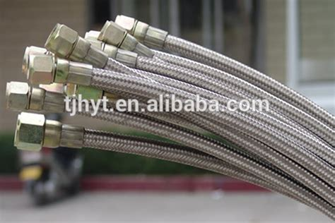 Teflon Di high pressure stainless steel braided ptfe teflon hose