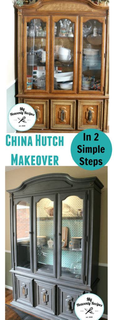 Dining Room Hutch Makeover by Dining Room China Hutch Makeover Heavenly Recipes