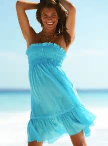Haljine Za Plaza Summer beach dresses 2010 : Blue strapless summer