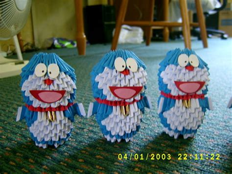 3d Origami Doraemon - 3d origami doraemon by juls2 on deviantart