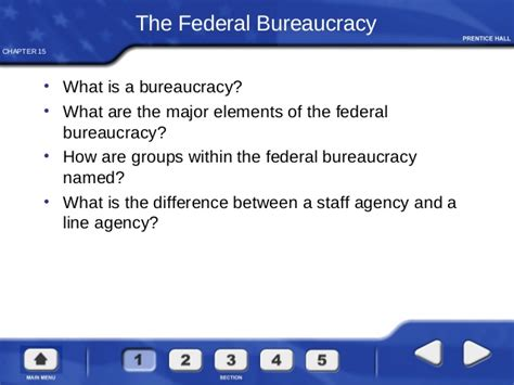 chapter 15 section 1 the federal bureaucracy government at work the bureaucracy