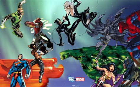 marvel vs dc wallpaper by artifypics on deviantart dc vs marvel jam by xionice on deviantart