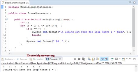 java pattern line break java break statement