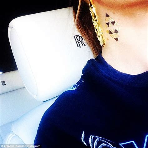 khloe kardashian tattoo khloe gets temporary neck but still hasn