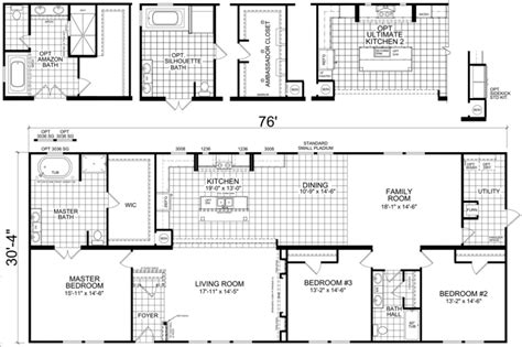 home floor plans carolina havelock 30 x 76 2305 sqft mobile home factory expo home