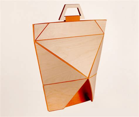 Fold A Paper Bag - playful facet origami bag can be folded flat for easy
