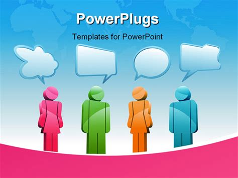 ppt templates for group discussion a group of characters is having a discussion powerpoint