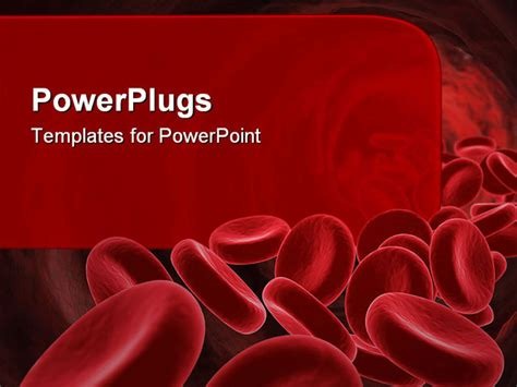 templates powerpoint blood powerpoint template 3d red blood cells going through the