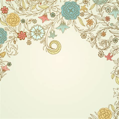 vintage flower pattern background vector art vintage floral background vector free download