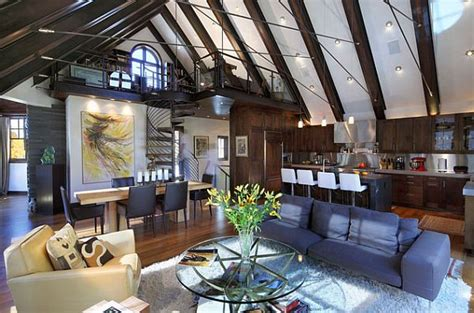 creative living rooms ideas loft residential spaces creative studies and studios designs in lofts