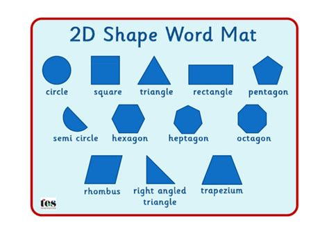 Shape 2 D 2d shape mats by tesspecialneeds teaching resources tes
