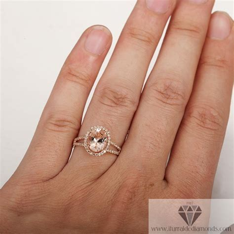 Split Shank Rose Gold Morganite Pave Diamond Engagement