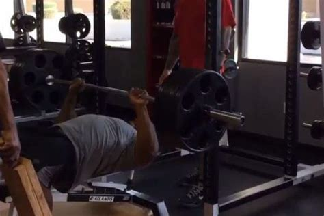 james harrison bench press james harrison builds muscular chest by benching reps of