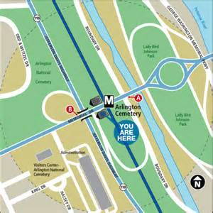 of at arlington cus map arlington cemetery metro station washington dc