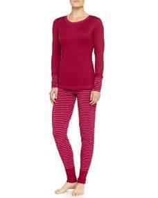 Stripe Rumbai splendid intimates cozy classic pajama set rumba stripe