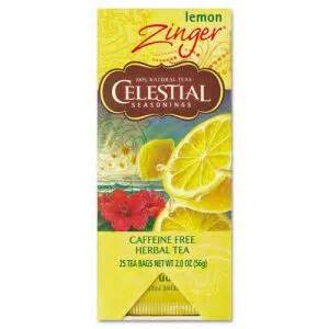 Celestial Detox Tea by Celestial Seasonings Tea Herbal Lemon Zinger 25 Box