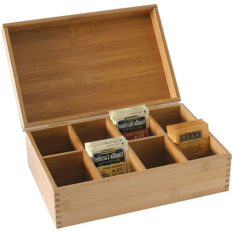 bamboo box storage bamboo storage box with dividers in tea and coffee storage