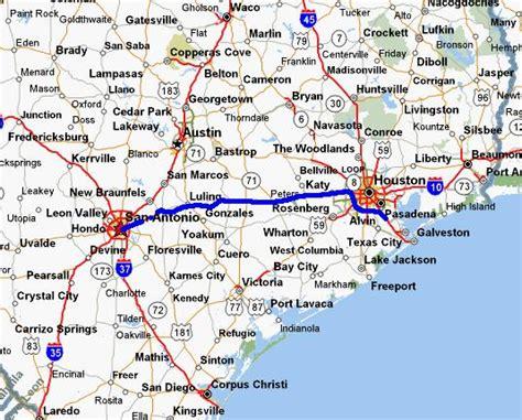 texas coastal cities map テキサス サンアントニオ ヒューストンスペースセンター