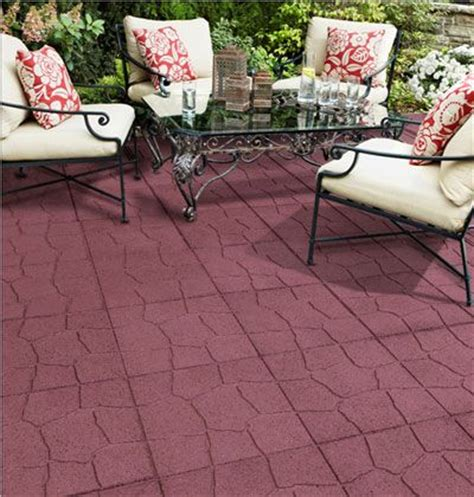 Rubber Patio Pavers 18 In X 18 In Flagstone Terra Cotta Rubber Paver Discontinued Cars Trucks And The Back