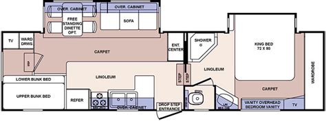 rv floor plans cardinal and montana floor plans used 2006 forest river rv cardinal 312bh fifth wheel at