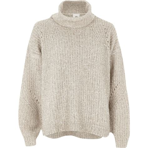 knit jumper gold lurex stitch roll neck knit jumper jumpers