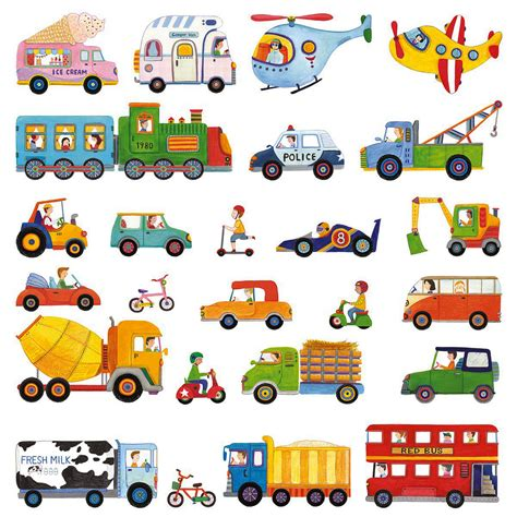 wandtattoo kinderzimmer fahrzeuge wandsticker autos lkw truck bahn wandsticker kinderzimmer