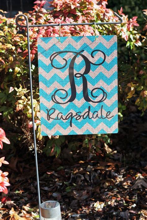 Personalized Garden Decor Personalized Metal Garden Flag With 2 S Hooks Personalized Burlap Style Flag Design Your Own