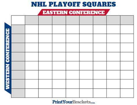 printable nhl playoff squares print office pool